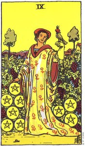 RWS Nine of Pentacles