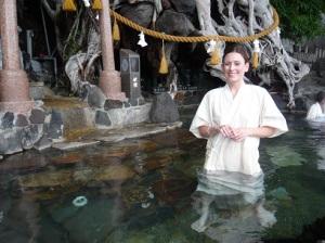 Sacred hot spring in Kagoshima