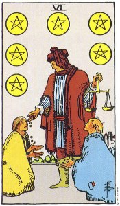 RWS 6 of Pentacles